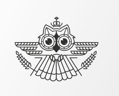 Owl logo illustration